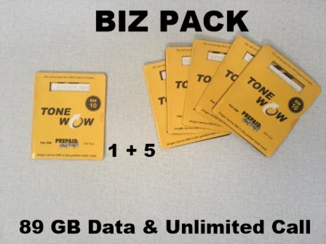 12:12 Sale promotion, Sim Card Viral 89GB & Unlimited call Biz pack (buy 5 free 1) - 1/3